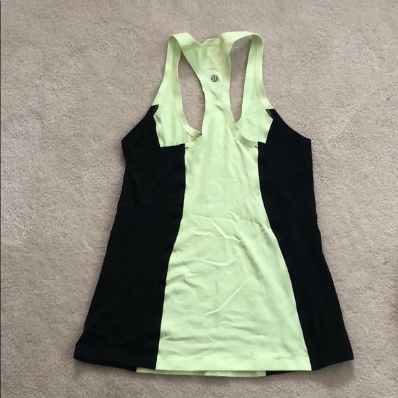 lululemon athletica Tops - Lululemon Lime Green & Black Tank